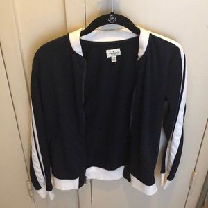 American Eagle Navy Blue Track Jacket/Sweater